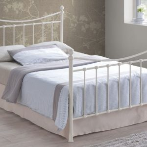 Albania-Ivory-Metal-Bed-Frame