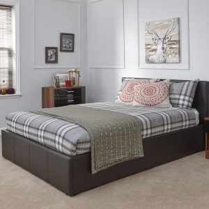 Arizona Brown Leather Bed Frame