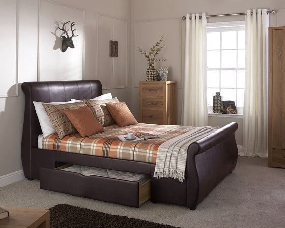 Maine Brown Drawer Bed
