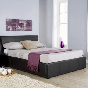 Alaska-Black-Leather-Ottoman-Bed-Frame