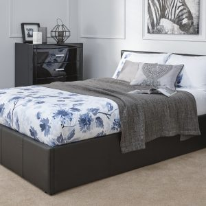 Arizona Black Leather Bed Frame