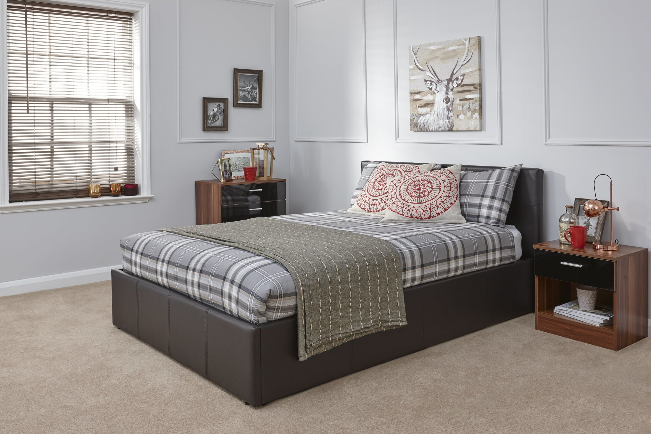 Small Double Arizona Brown Ottoman Bed Frame - Dublin Beds