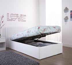 Arizona-White-Single-Leather-Lift-up-Bed-Frame