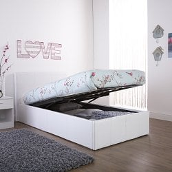 Arizona-White-Single-Leather-Lift-up-Bed-Frame