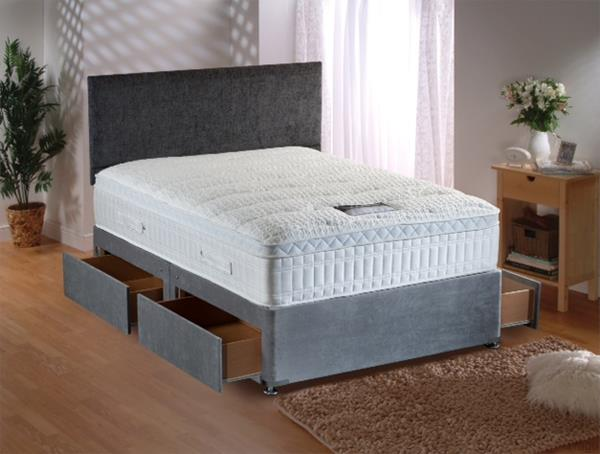 Best rest 4 drawer divan base dublin beds for Divan base no mattress