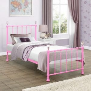 Birlea-Jessica-Pink-Single-Metal-Bed-Frame-e1498657721349