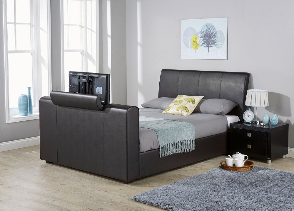 Brook Black TV Bed Frame - Dublin Beds