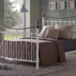 cyprus white bed frame