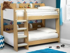 Domino Maple Bunk Bed Room Set