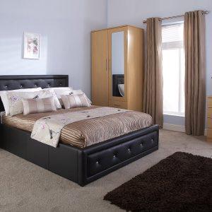 Florida-Black-Crystal-Ottoman-Bed-Frame