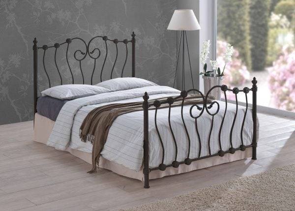 France Black Bed Frame