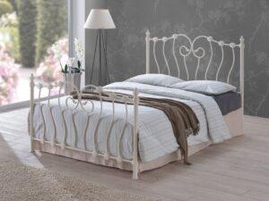 France-Ivory-Metal-Bed-Frame