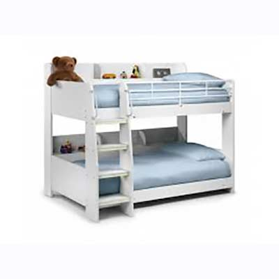 Julian Bowen Domino White Bunk Bed Dublin Beds