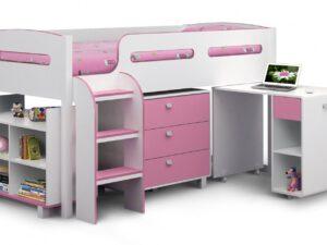 Julian-Bowen-Kimbo-Pink-Cabin-Bed