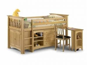 Julian-Bowen-Pine-Barcelona-Sleep-Station-Bed-Frame