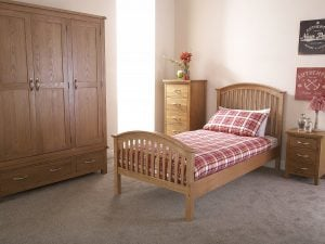 Kansas-Natural-Oak-Bed-Frame