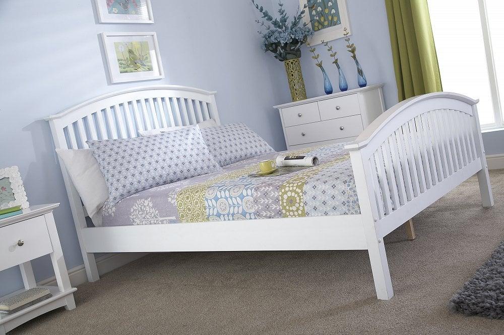 Kansas White Small Double Bed Frame Dublin Beds