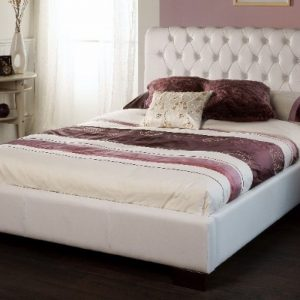 Limelight-Aries-White-Faux-Leather-Bed-Frame