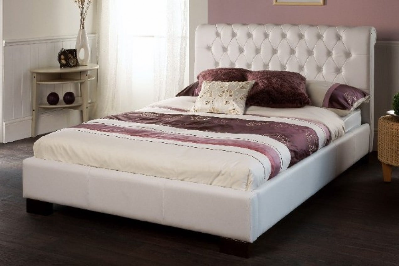 Modest White Bed Frame Minimalist