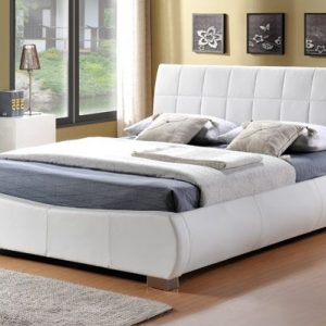 Limelight-Dorado-White-Faux-Leather-Bed-Frame