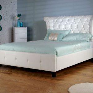 Limelight-Epsilon-White-Faux-Leather-Bed-Frame