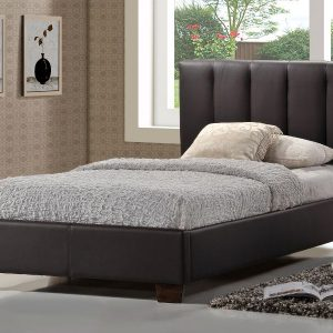 Limelight-Pulsar-Brown-Faux-Leather-Bed-Frame