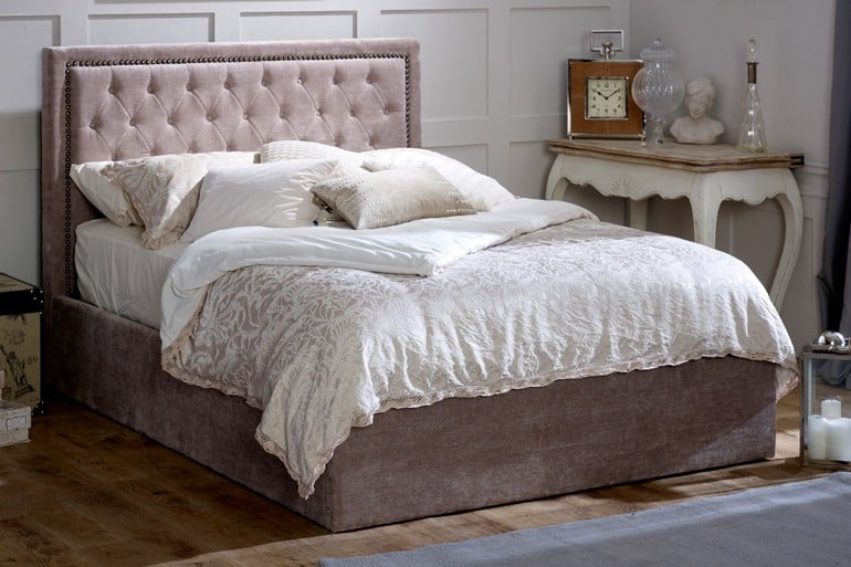 Limelight Rhea Mink Super King Storage Bed Dublin Beds