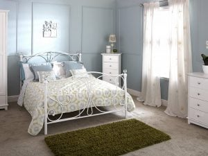 Michigan-Crystal-Metal-White-Bed-Frame