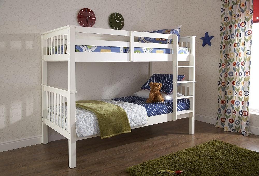 Nova White Bunk Bed - Dublin Beds