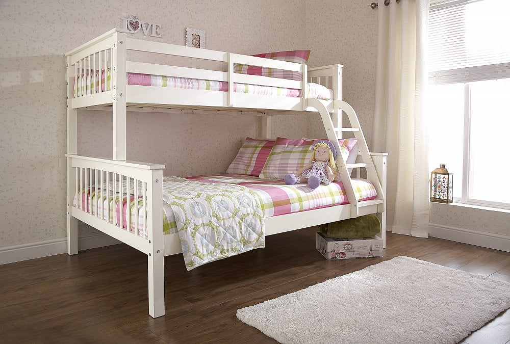 Nova White Triple Sleeper Dublin Beds