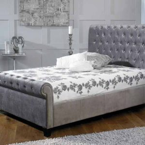 Vancouver-Plush-Silver-Bed-Frame