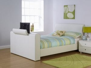 White-Leather-TV-Bed-Frame
