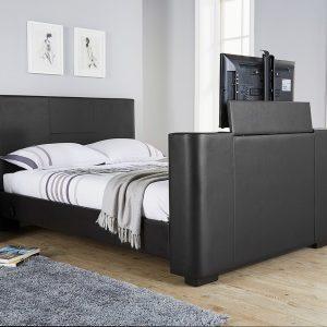 Beckham Black TV Bed Frame