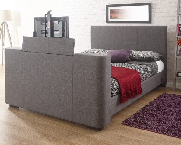 Beckham Grey TV Bed Frame