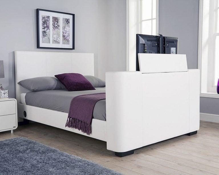 Beckham White TV Bed Frame