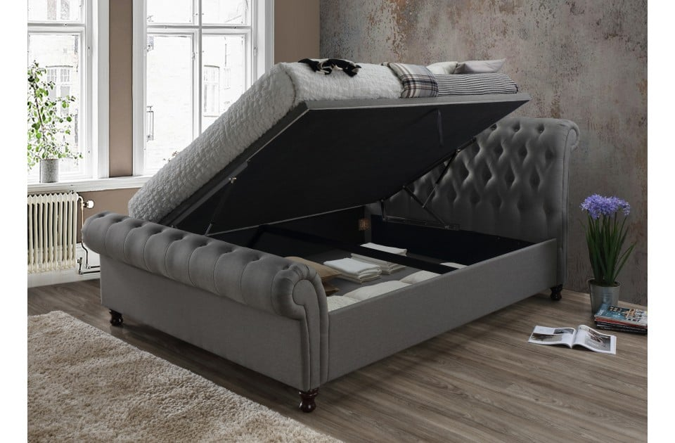 Incredible Birlea King Castello Grey Ottoman Bed Frame Lamtechconsult Wood Chair Design Ideas Lamtechconsultcom
