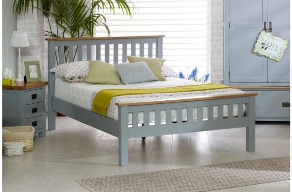 Birlea New Hampshire Grey High End Bed Frame
