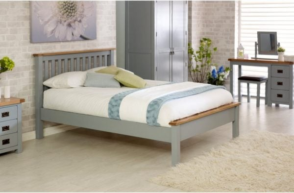 Birlea New Hampshire Grey Low End Bed Frame