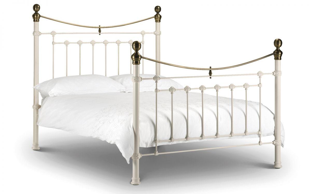 Julian Bowen Double Victoria White Bed Frame - Dublin Beds