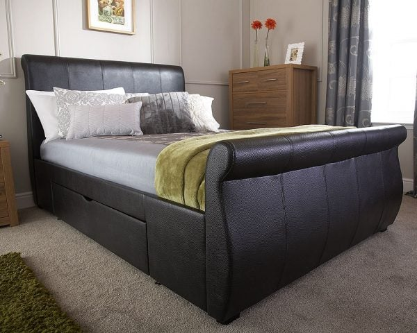 Maine Black Drawer Bed