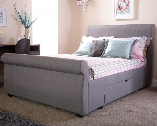 Maine Grey Drawer Bed