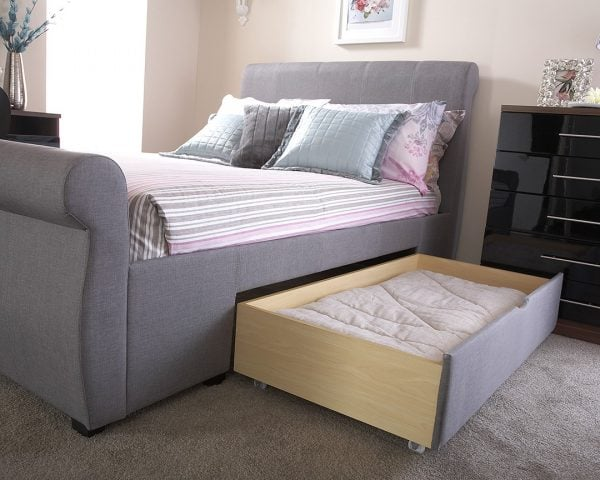 Maine Grey Drawer Bed Frame