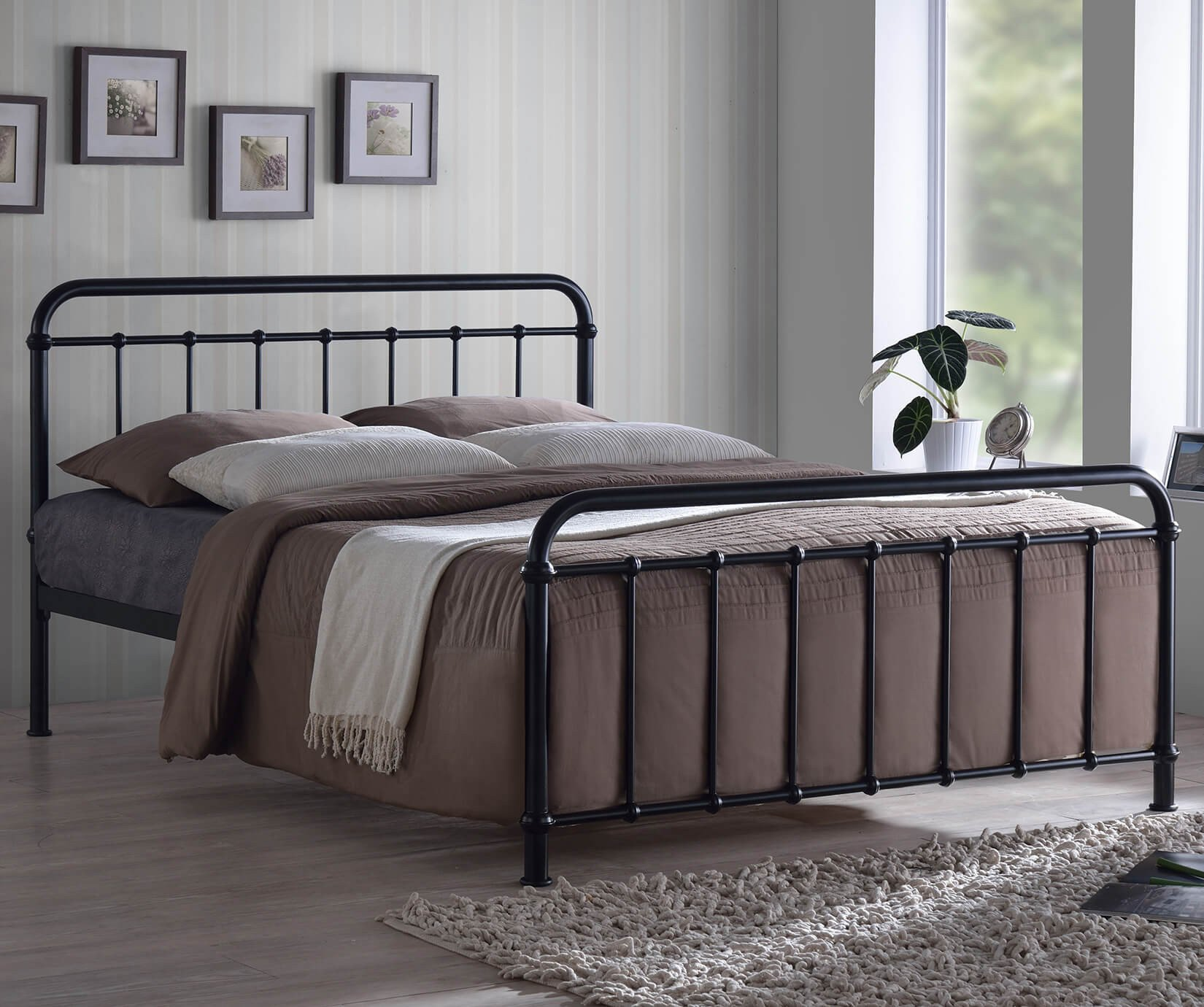 Double Malta Black Bed Frame Dublin Beds