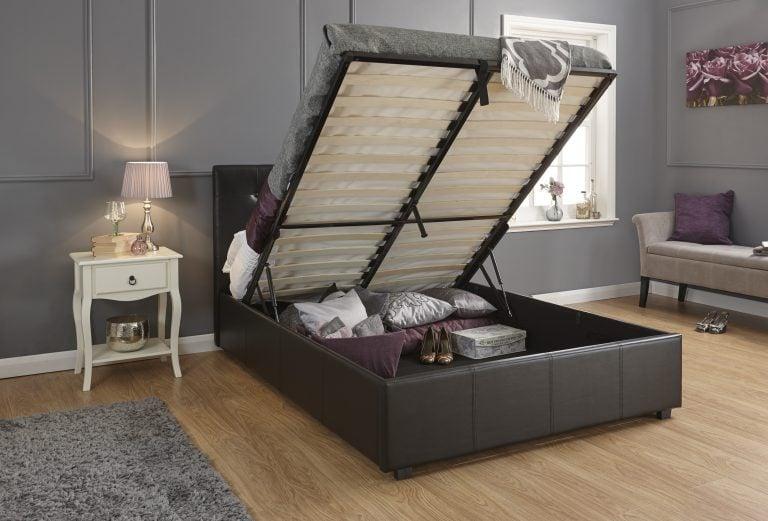 Montana Black Ottoman Bed