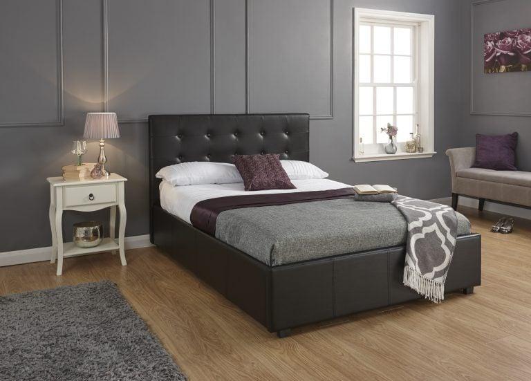 Montana Black Ottoman Bed Frame