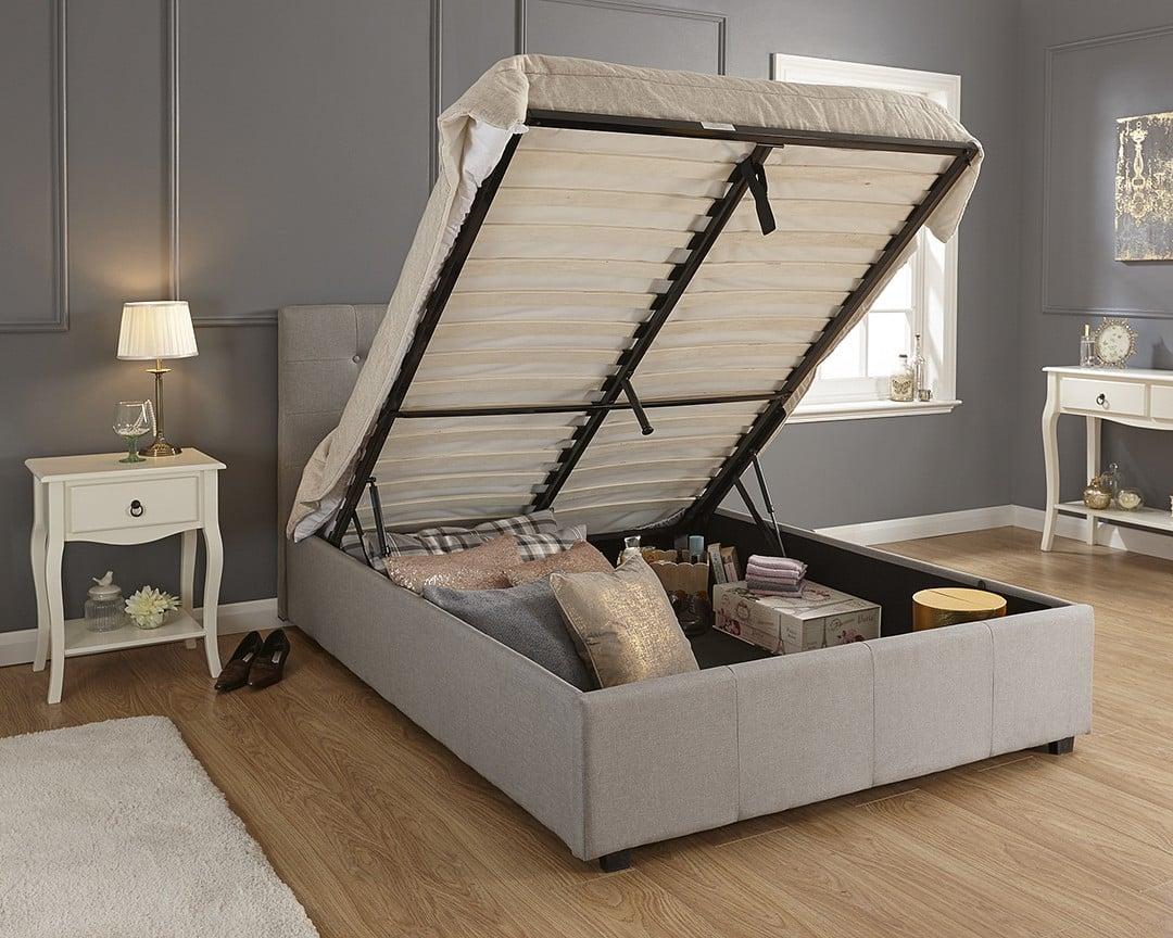 single montana grey ottoman bed frame dublin beds. Black Bedroom Furniture Sets. Home Design Ideas