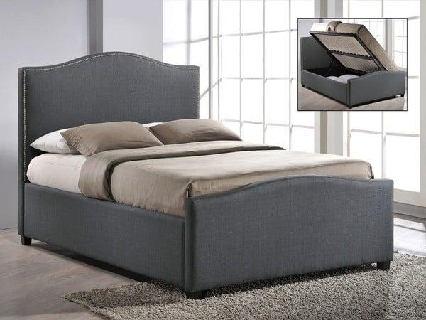 double morocco grey ottoman bed frame dublin beds. Black Bedroom Furniture Sets. Home Design Ideas