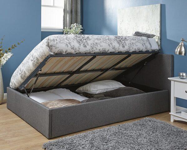 Ohio Grey Ottoman Bed