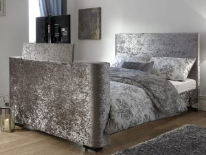 Beckham Crushed Velvet TV Bed Frame