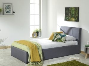 Alaska Grey Single Ottoman Bed Frame